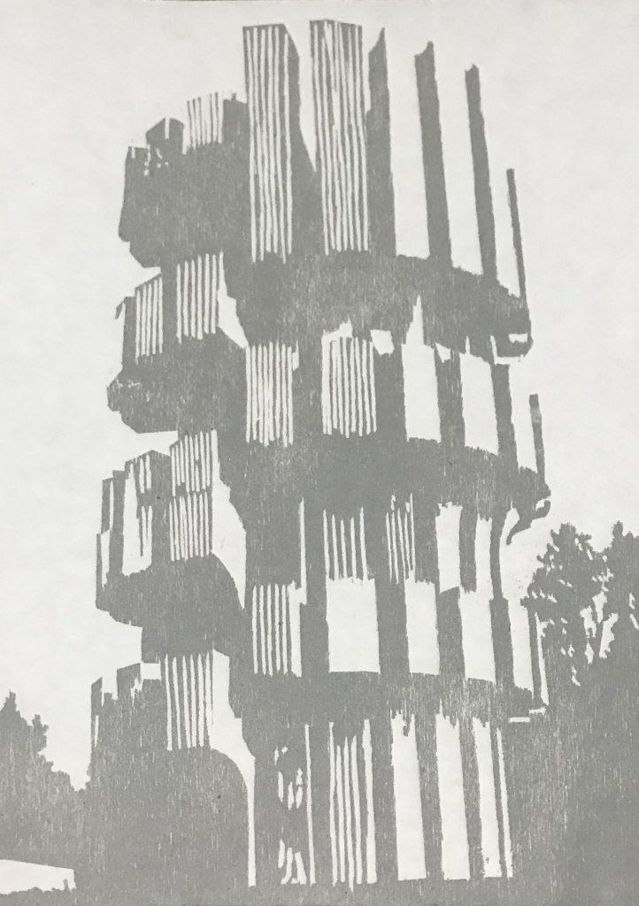 """""""Estudio I Monumento a la Revolución en Kozara"""", 2019"""
