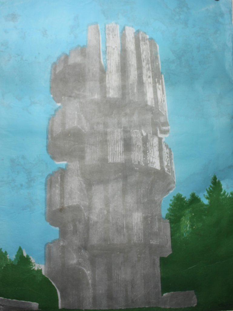 """""""Estudio III Monumento a la Revolución en Kozara"""", 2019"""